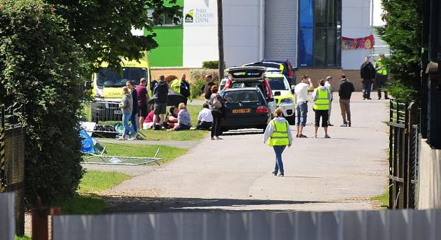 Five people in hospital after gazebo blows over at Three Counties Showground